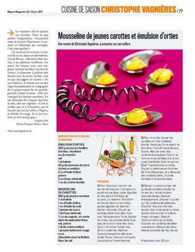 Migros Magazine 14 juin 2011 (4/4)